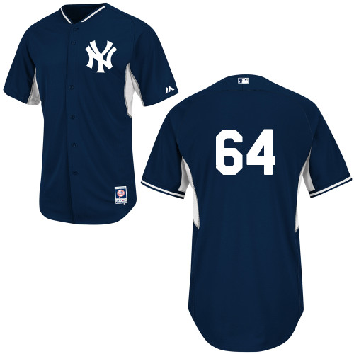 Jose Ramirez #64 MLB Jersey-New York Yankees Men's Authentic Navy Cool Base BP Baseball Jersey